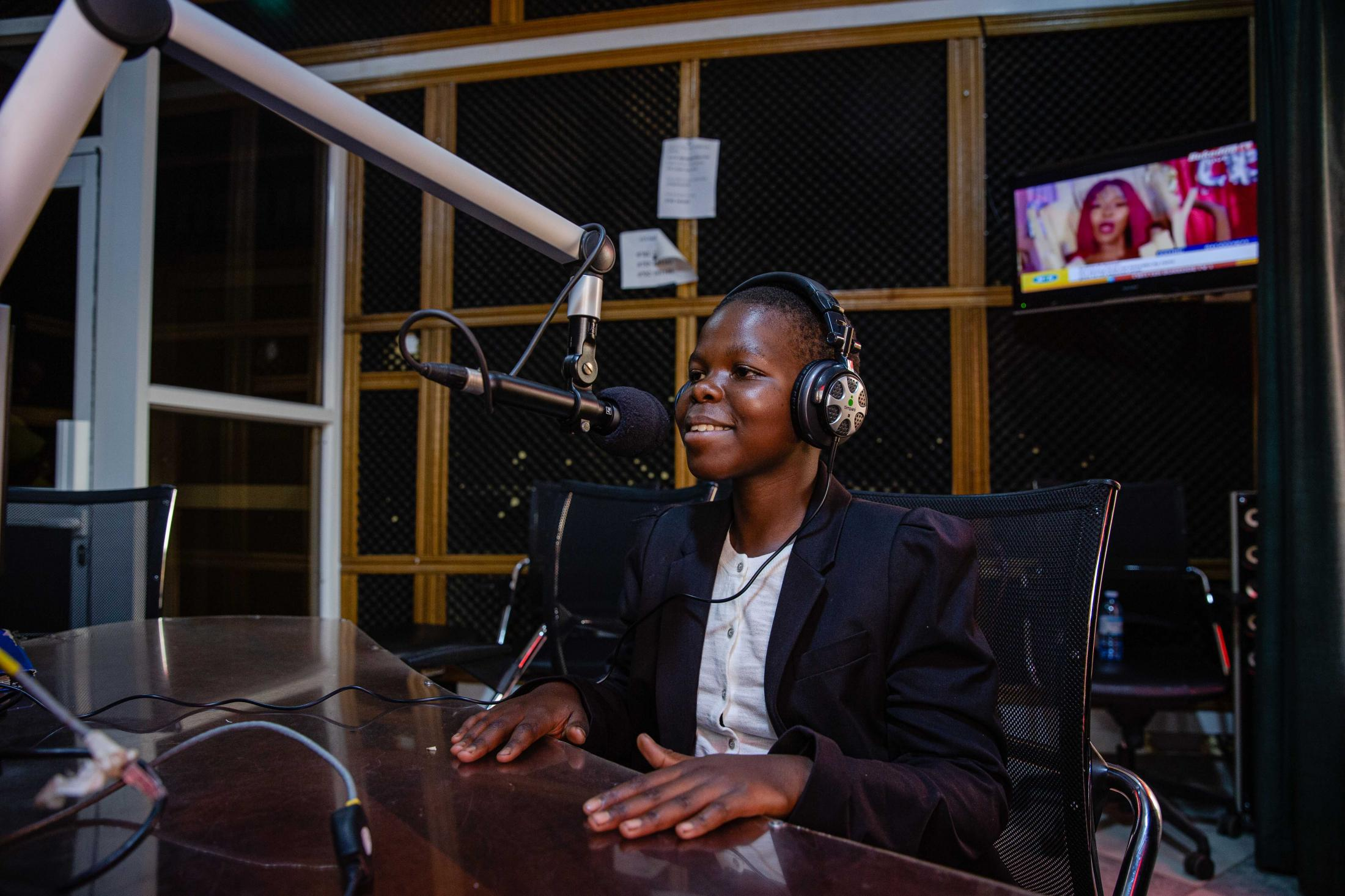 Sarah aspires to be a radio journalist. #FutureMe campaign. Esther Ruth Mbabazi for She's The First.