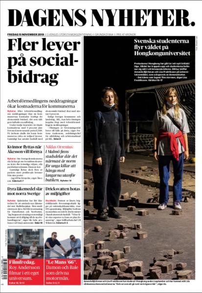 Dagens Nyheter, November 2019