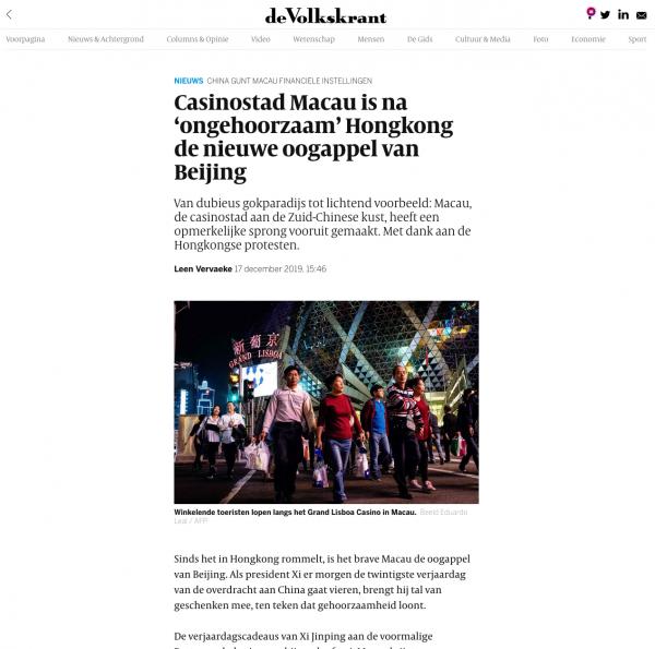 de Volkskrant, December 2019