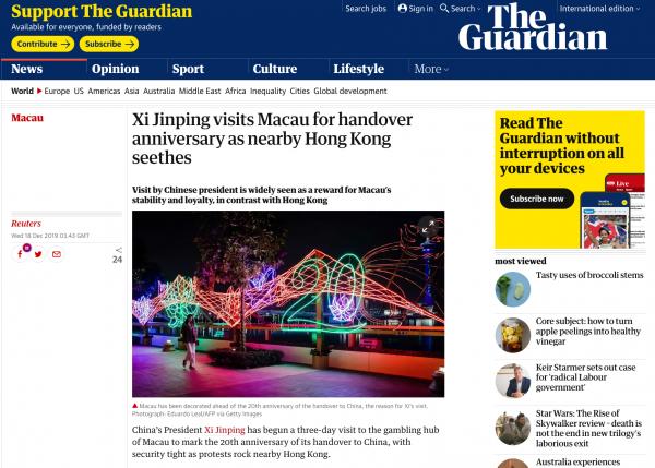 The Guardian, December 2019
