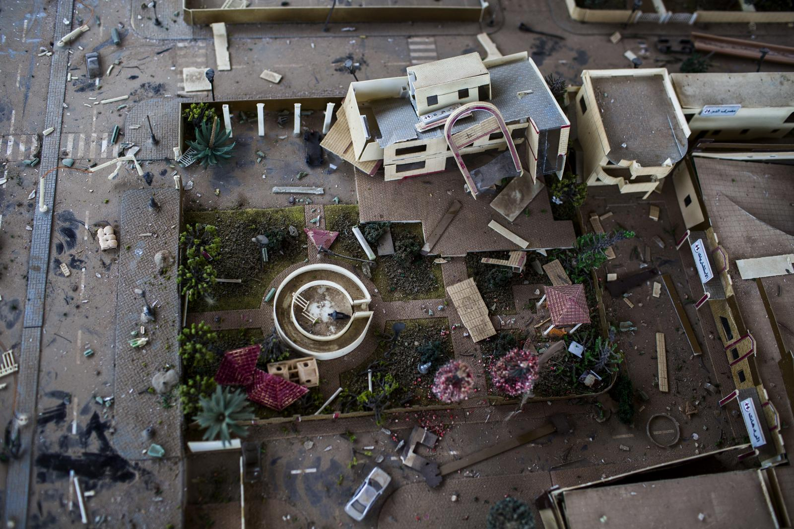 A view of a Mockup post-op hospital of Hamdaniya inside a bandstand. Iraq 2017. Diego Ibarra Sánchez for MSF