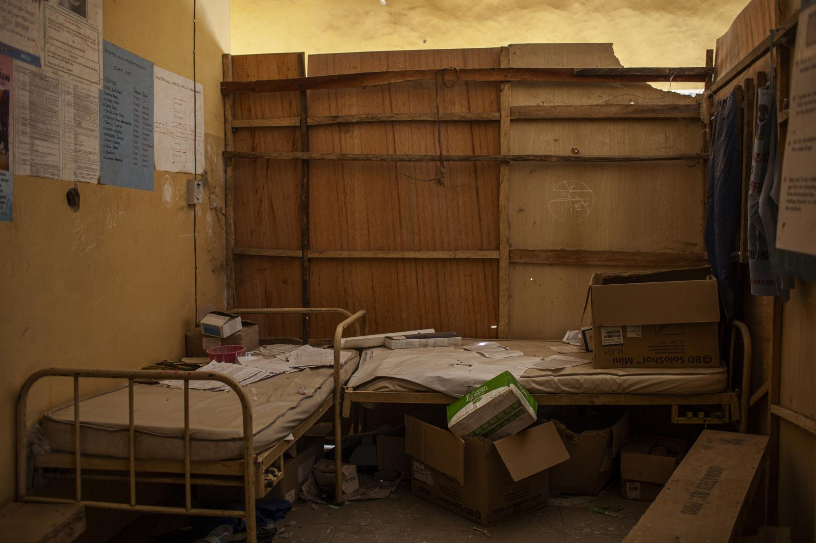 Detail of one health center attacked on February 8 by Boko Haram in 2013 in Kano. Nine polio immunization workers were shot on February 8 in 2013. Northern Nigeria became a polio hot spot in 2003 when waves of rumors began spreading about the vaccine: that it sterilized Muslim girls, that it contained pork products and that it contained the virus that causes AIDS. The governor of Kano, a northwestern state, stopped vaccinations for a year, and a local polio strain spread, first to 10 other African countries and then, through pilgrims, to Mecca in Saudi Arabia, and to Yemen and Indonesia. Kano, Nigeria 2014. Diego Ibarra Sánchez