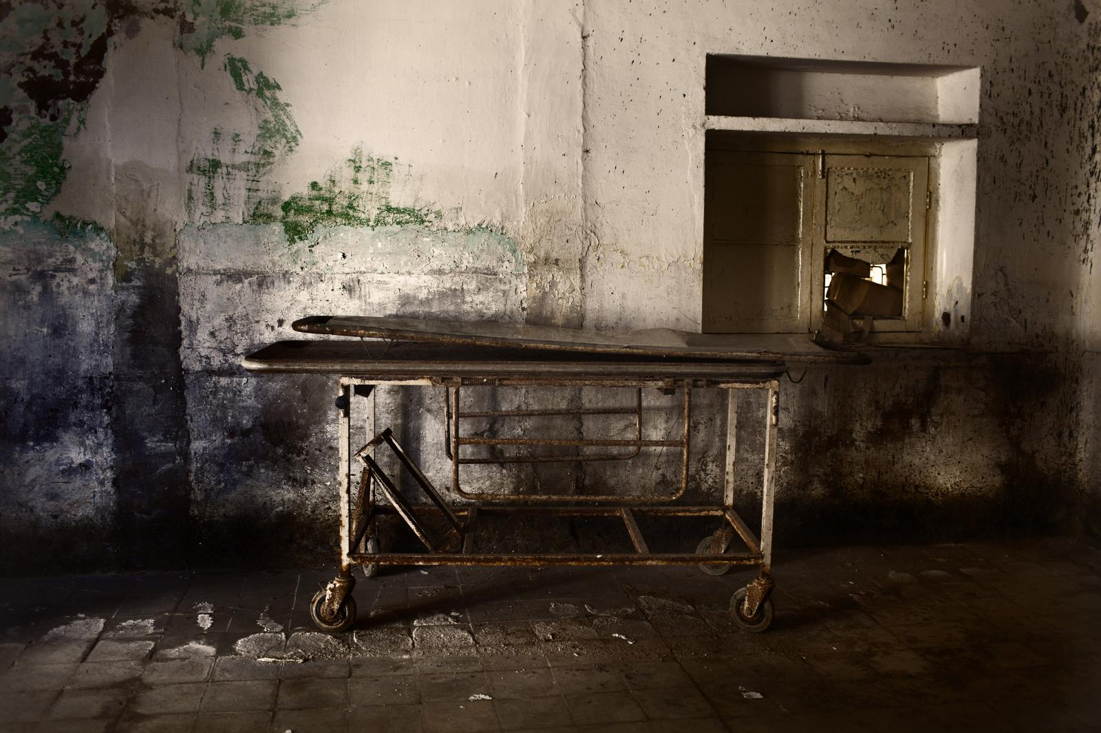 A rusty stretcher is seen inside an abandoned hospital due to the heavy floods in the province of Hyderabad. Hundreds of health facilities and hospitals have been damaged and destroyed during the floods, greatly reducing the healthcare available for survivors. Diego Ibarra Sánchez for WHO