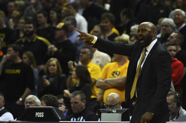 Missouri head coach Cuonzo Martin yells at his players to get back down the court on Saturday, Feb. 15, 2020, at Mizzou Arena. This is Martin's third season as head coach of the Missouri men's basketball team.