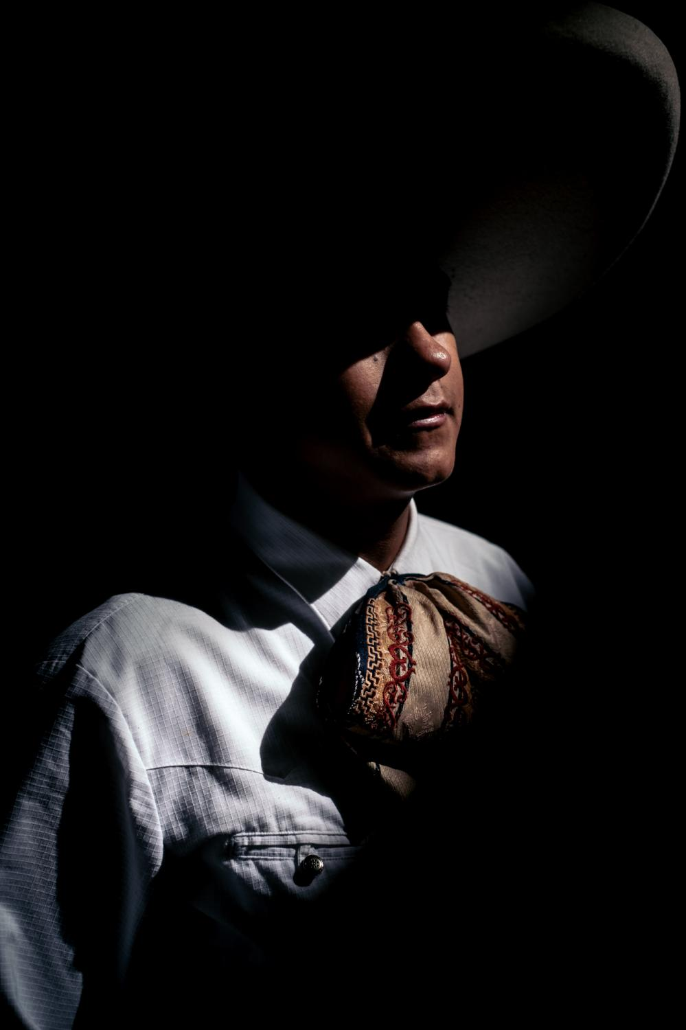 Portrait d'Eduardo Hurtado Mejia, jeune Charro de 19 ans, il a commencé la Charreria à l'âge de 6 ans. 27/07/18 Ezequiel Montes, Queretaro, Mexique. Portrait of Eduardo Hurtado Mejia, young Charro of 19, he started Charreria at the age of 6 years old. 27/07/18 Ezequiel Montes, Queretaro, Mexico.
