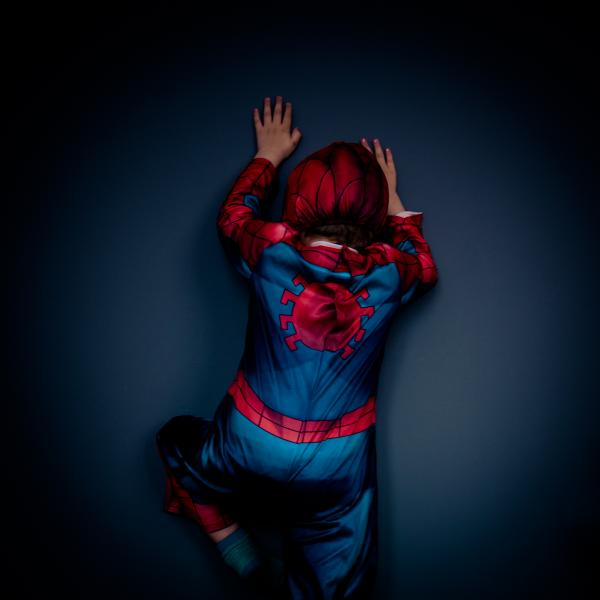Spider-man is Simone's favourite superhero