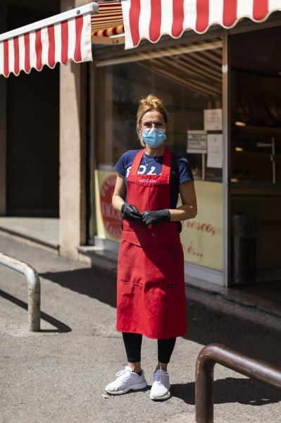 Portraits of workers during covid-19 pandemic in Lombardy, Northern Italy.
