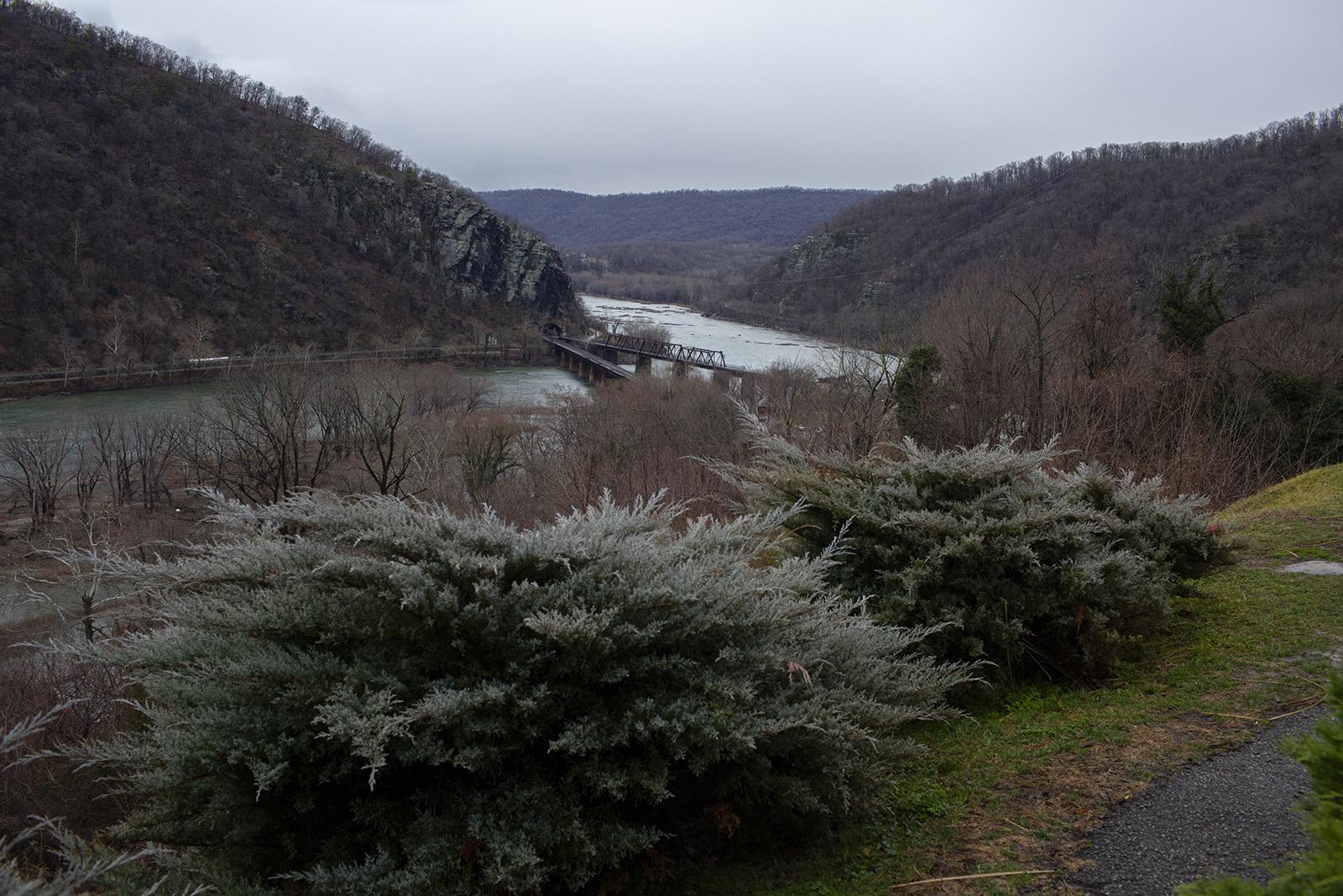 HARPERS FERRY, WV - FEBRUARY 7: Overlooking the Potomac River in Harpers Ferry, WV on the land that could be part of the Hilltop House Hotel development. (Photo by Robb Hill for The Washington Post)