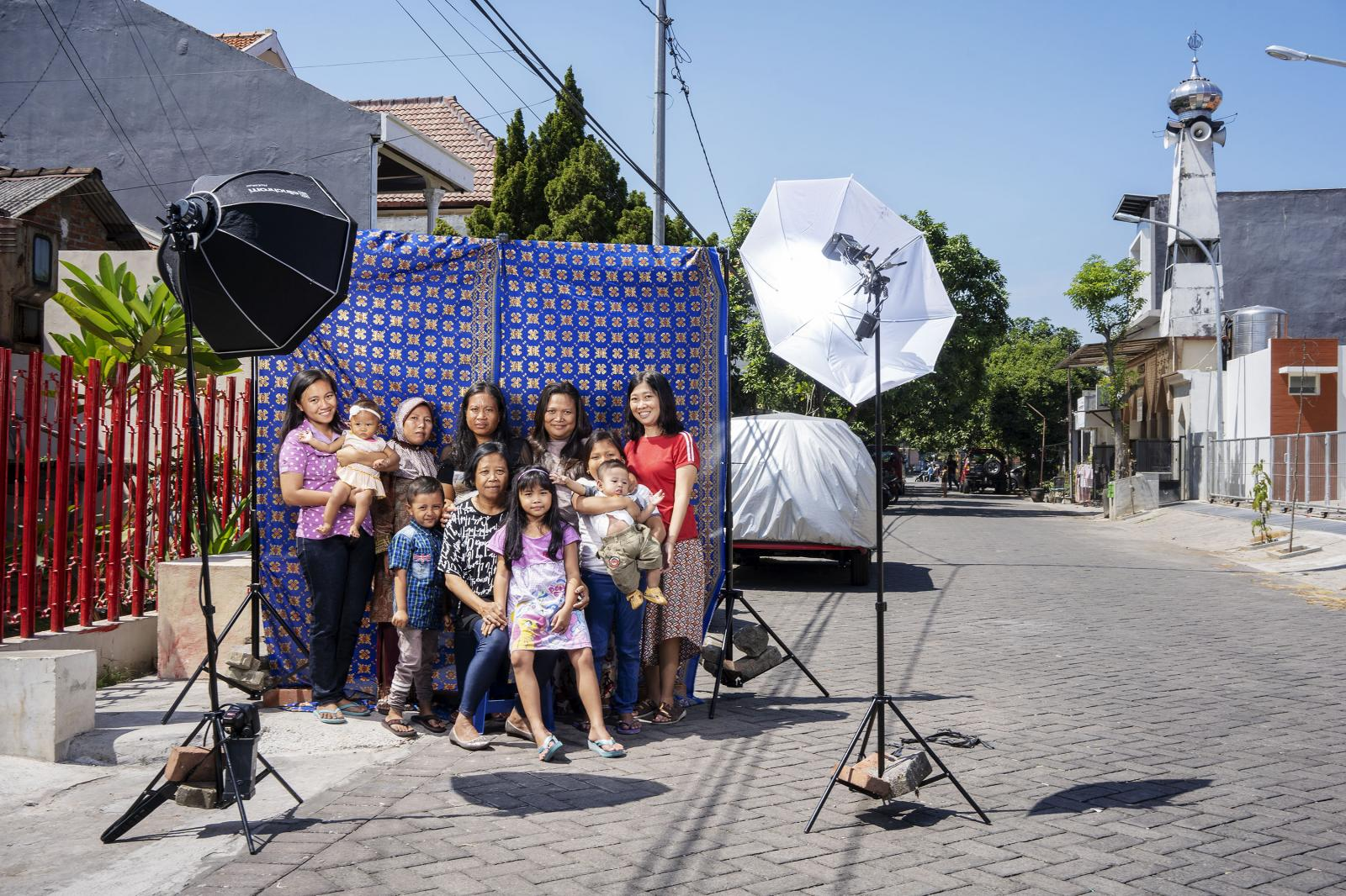 A family portrait in East Java, Indonesia on Thursday, July 12, 2018.