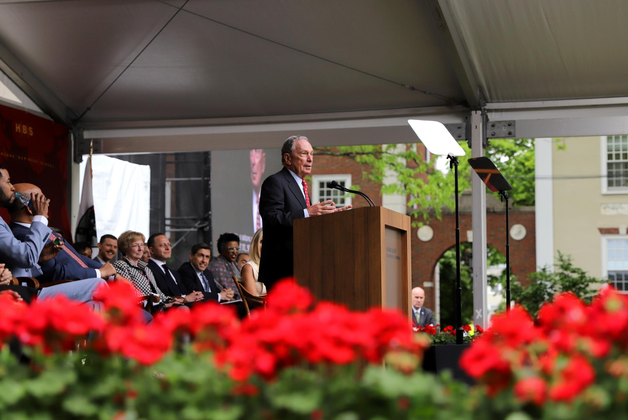 Michael R. Bloomberg, former mayor of New York City and founder of Bloomberg L.P. and Bloomberg Philanthropies, reminisced and gave graduates advice at the Harvard Business School's Class Day in May 2019.