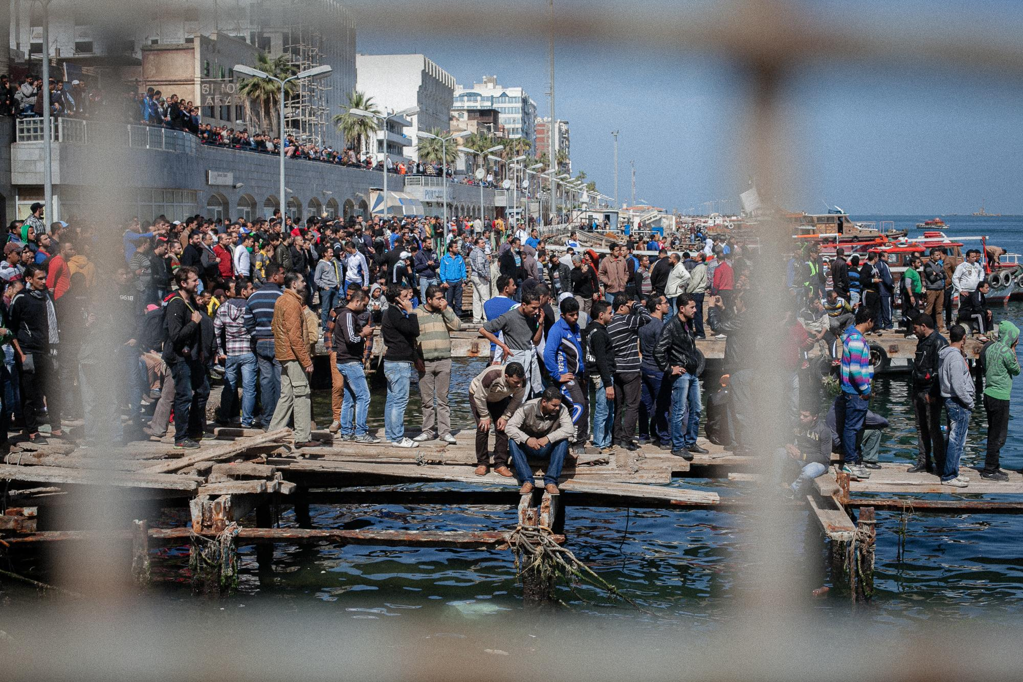 Protesters headed to Suez Canal Port on March 9, 2013 after hearing the verdict of the Port Said massacre that killed 72 people after an Ultras football match in early 2012 that turned violent.