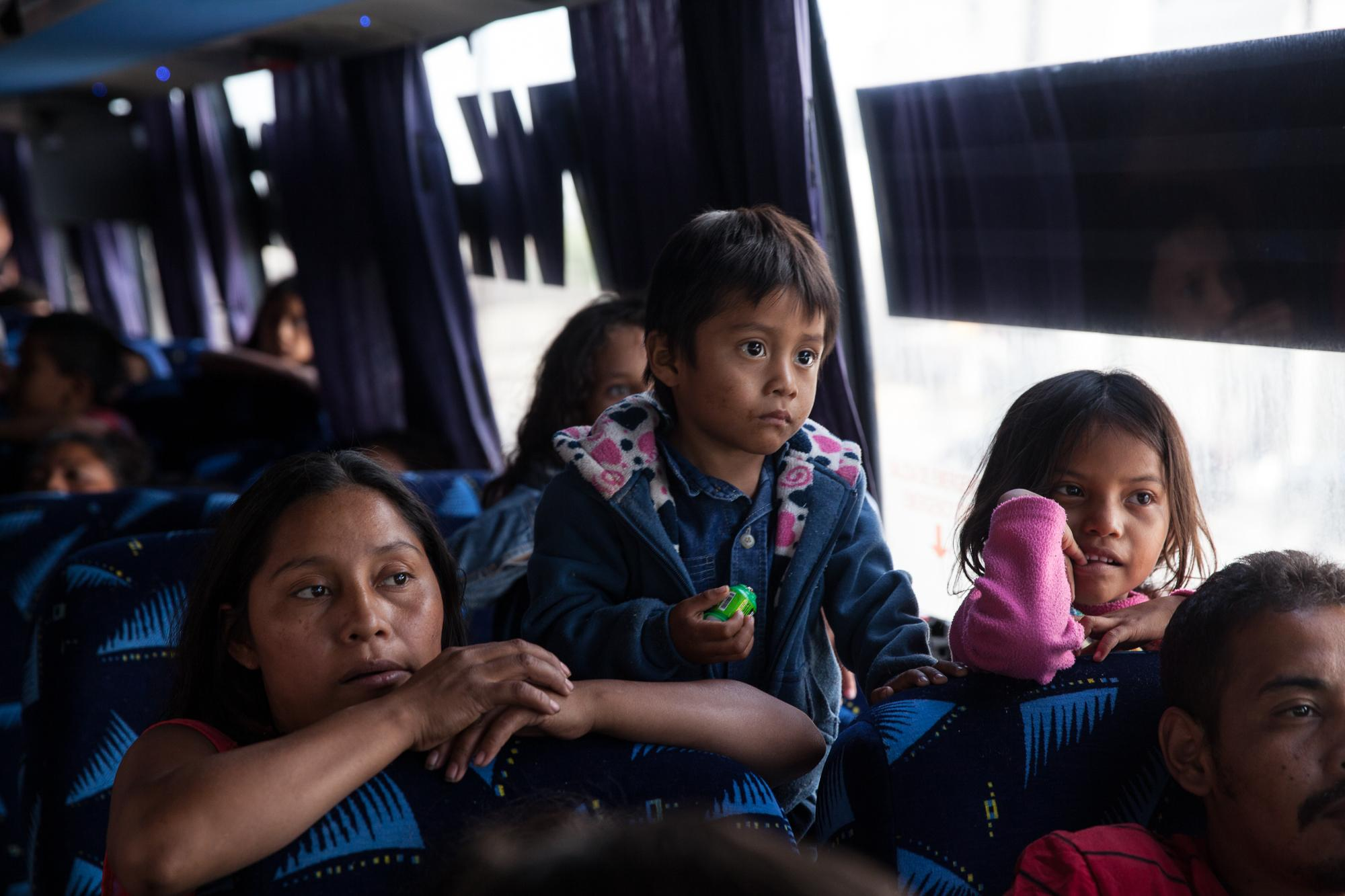The caravan started on March 25th in the Mexican city of Tapachula, near the Guatemalan border, and traveled across Mexico. Mostly women and children stopped in Mexicali for two hours and got back the bus to make their way to Tijuana, MX, on April 24, 2018.