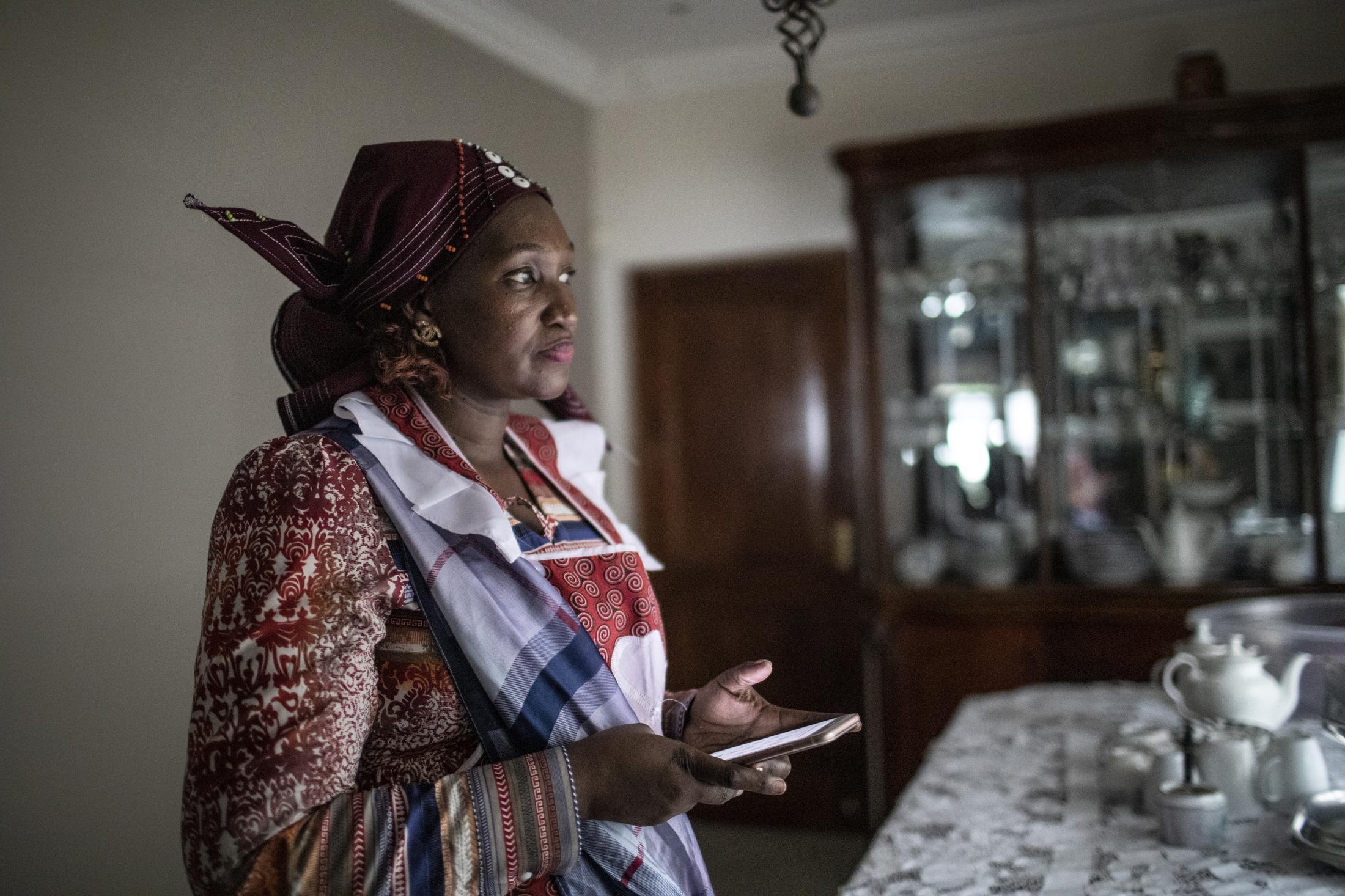 18 February 2020: Mathusi Shabalala at the family home after the memorial service for Ladysmith Black Mambazo founder Joseph Shabalala in Ladysmith Kwa-Zulu Natal.