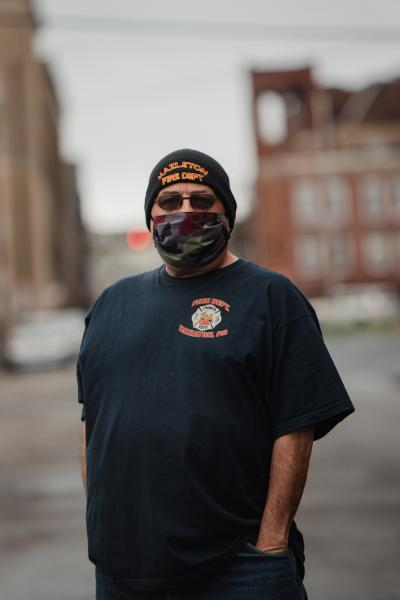 Hazleton City Councilman Tony Colombo stands for a portrait in Hazleton, PA. on Saturday, April 18, 2020. Colombo has been actively working with city councilwoman Lauren Sacco to make sure the conditions in the surrounding factories are taken care of so the coronavirus doesn�t spread further in town. Hannah Yoon