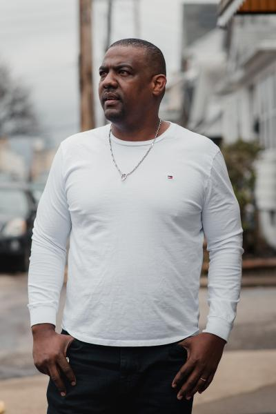 Leandro Noboa, 35, stands for a portrait at his home in Hazleton, PA. on Saturday, April 18, 2020. Noboa is still working but is worried because he has a son and a wife who suffers from Lupus. However, he said he cannot afford to stop working. Hannah Yoon