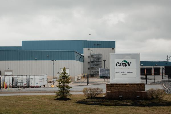 The Cargill meat packaging plant can be seen from a side road in Hazleton, PA. on Saturday, April 18, 2020. Recently, 162 workers at the Cargill meat packaging plant tested positive for the virus. The plant has around 900 employees. The town of Hazleton has been hit the hardest with the coronavirus in all of Pennsylvania. Hannah Yoon