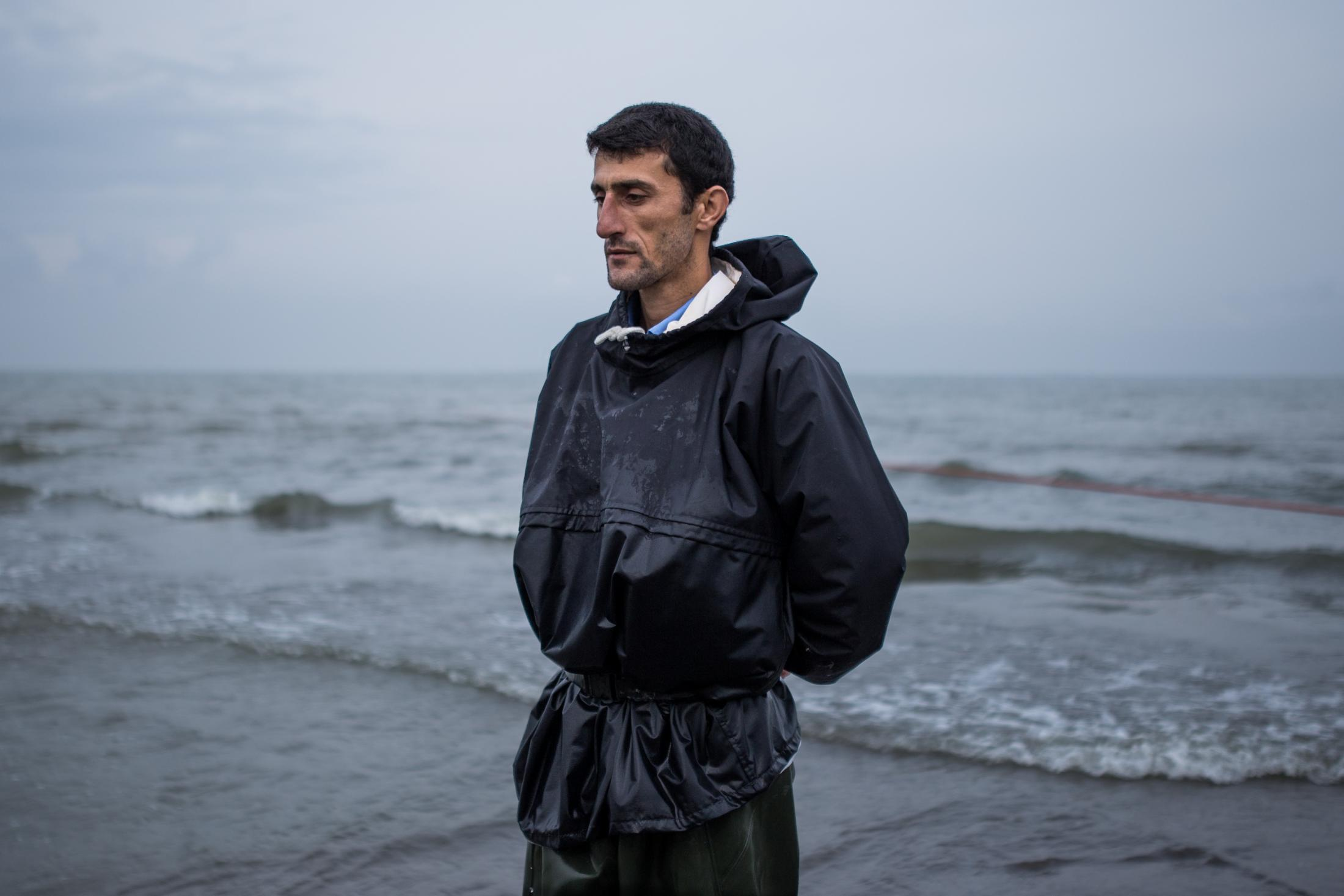 Mohsen, 38 years old, is working in a cooperative in Anzali. He believes that fish do not live naturally in the sea anymore, and if the Fisheries Organization does not release fish fries into the sea every year in early summer, they will no longer have fish to fish.