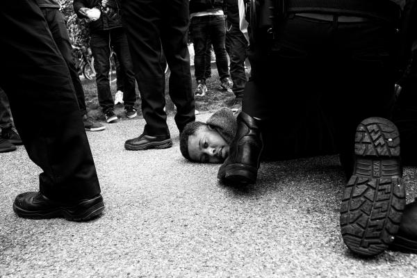 From anti COVID-19 lockdown protest, London, 16/05/2020