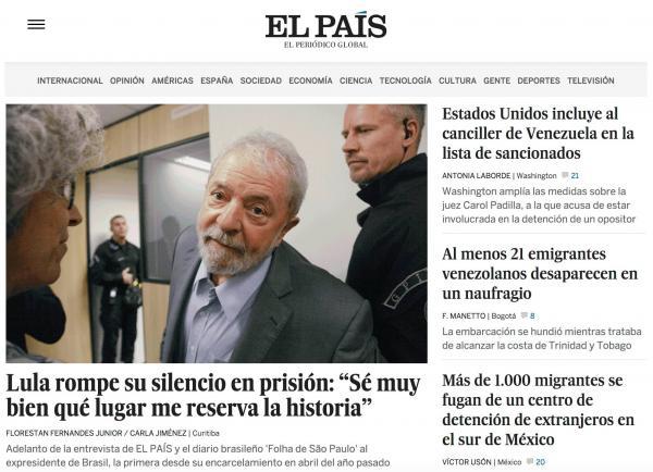  Las Imagenes de la entrevista a Lula da Silva 