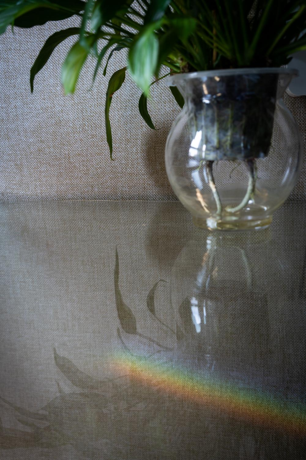 Staying in the same room and looking at the same things for 14 days make me excited at even the smallest novel details. On the tenth day of quarantine, I find a small rainbow on the wall near my desk.