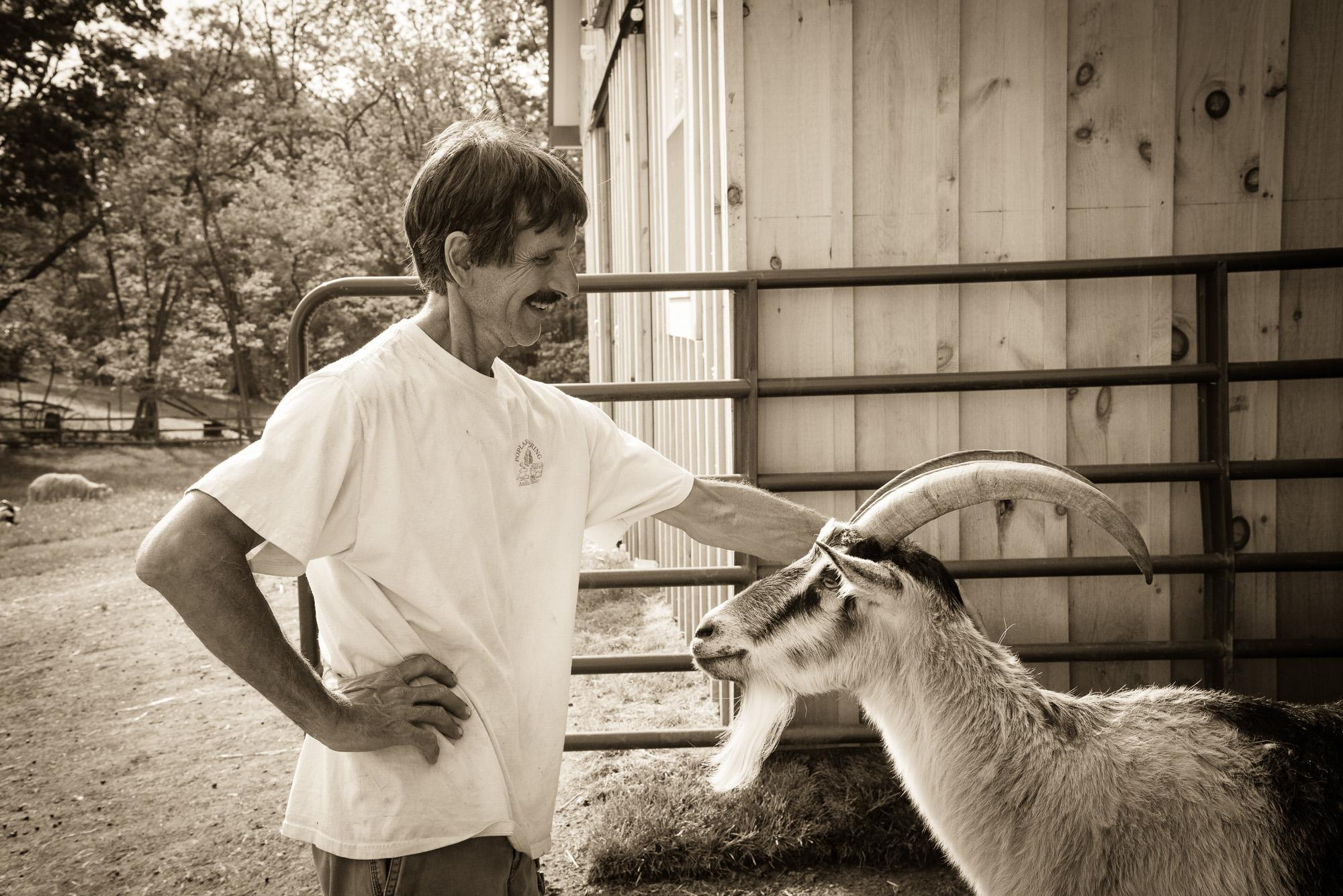 Dave Hoerauf, co-founder of Poplar Springs Animal Sanctuary in Maryland.