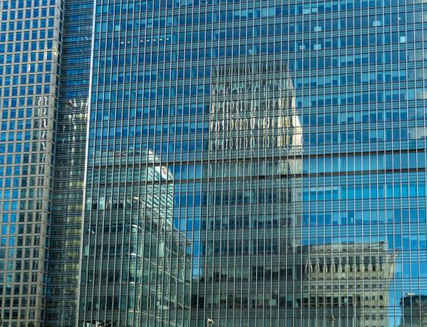 Reflection of Canary Wharf
