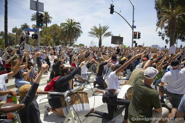 Peacful Protest in Santa Monica, CA