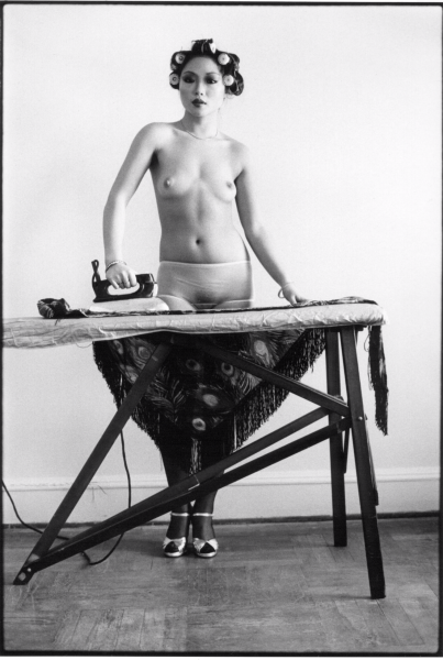 Eddie Sun's Friend Ironing New York 1972  11 inches X 14 inches (279.4mm X 355.6mm) Silver Gelatin Print