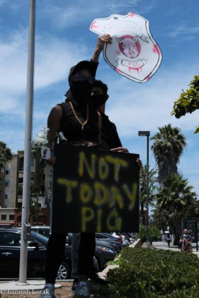 Peaceful protest at Pan Pacific Park in Los Angeles Erupts in Violence