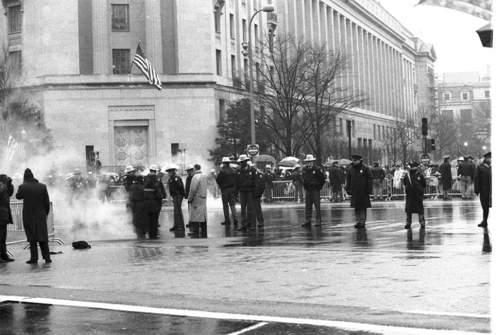 Wash DC Federal police - 2000 - during GW Bush's Inauguration