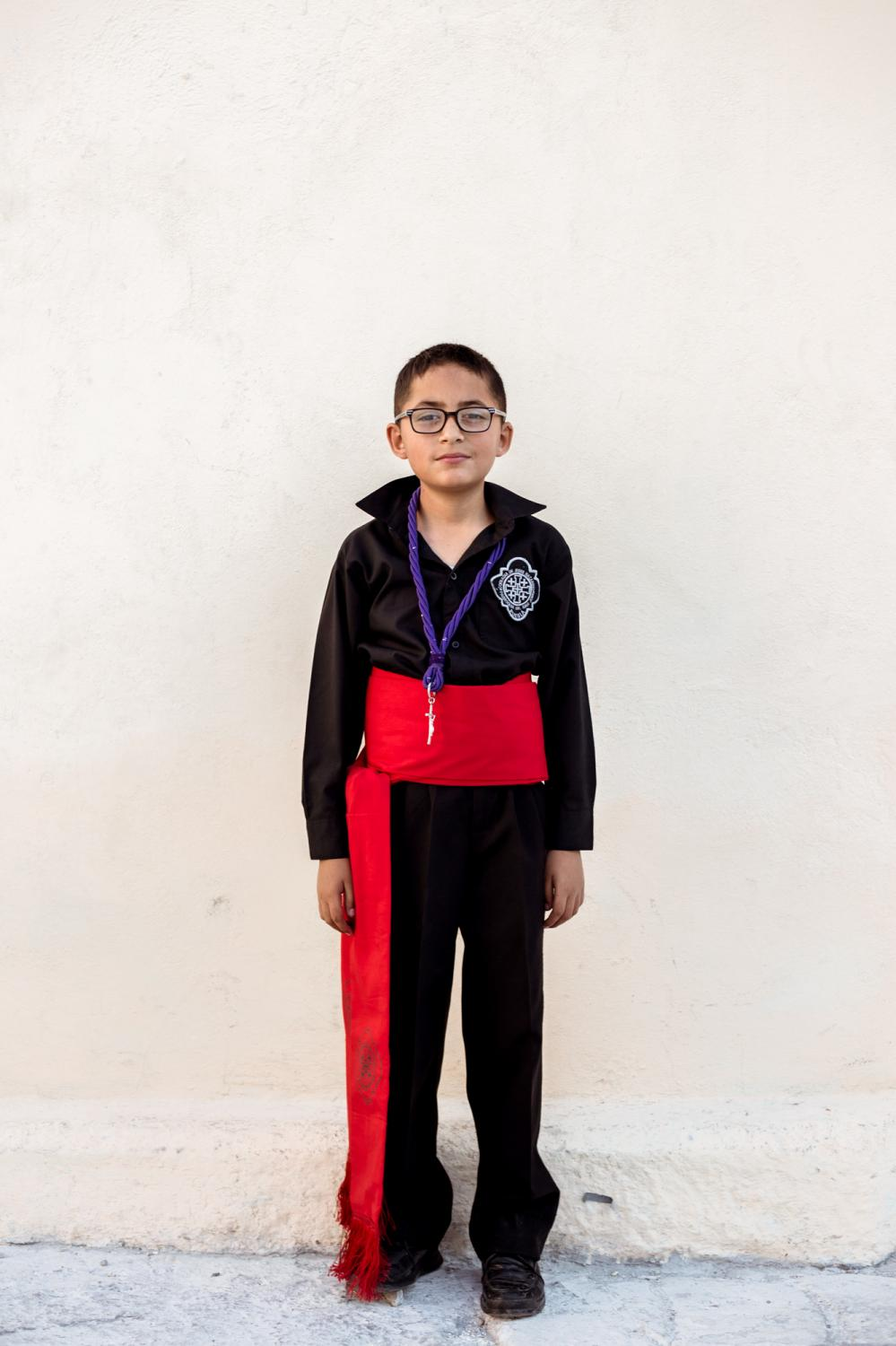 Rodrigo, became a member of the Confraternity because his family comes here. Most kids are a little shy but he came very confidently and asked to pose for a photo.