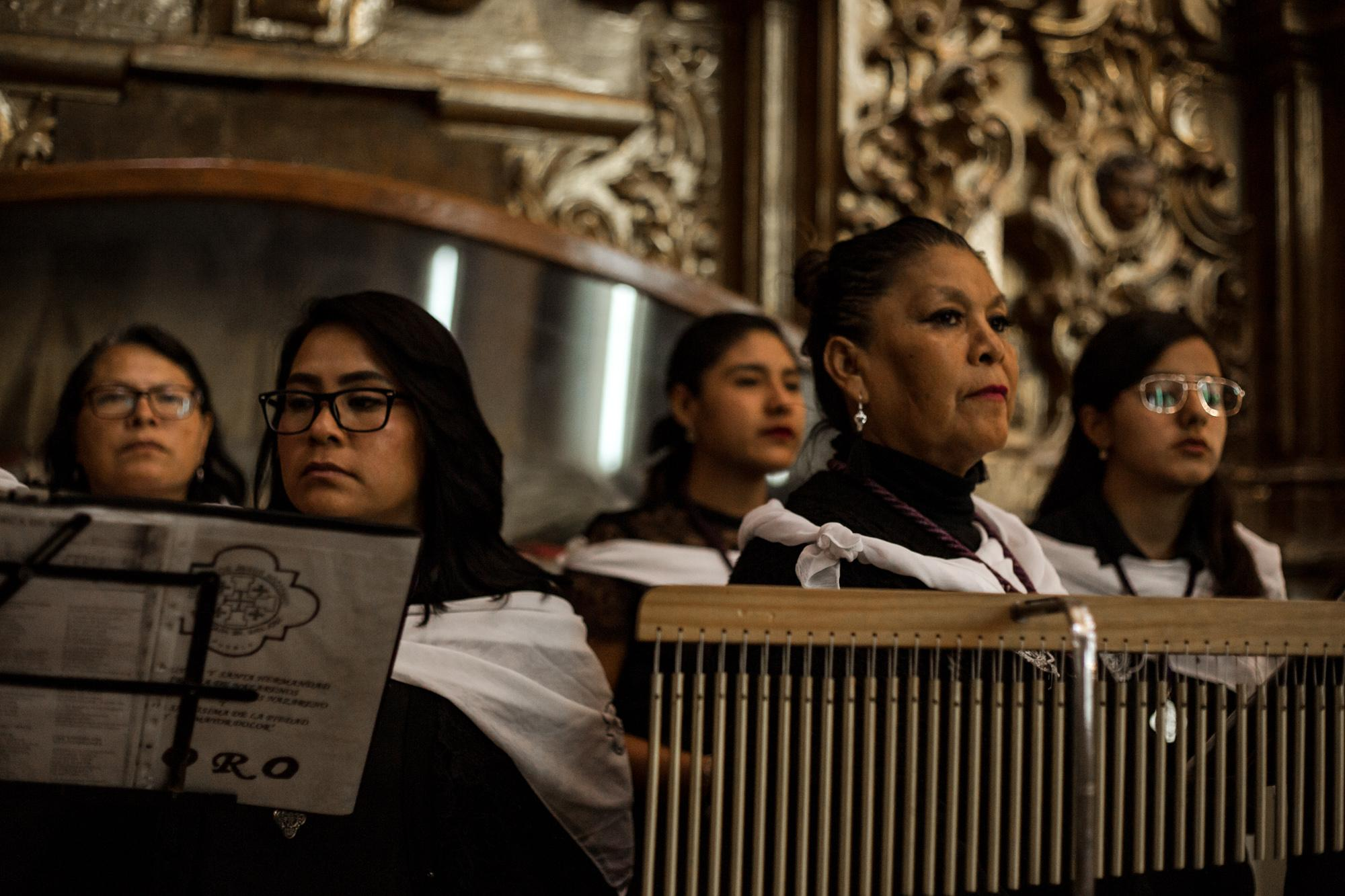 Women in the confraternity play a different role usually in the choir or the band but none of them can take part in the decision-making of the group.