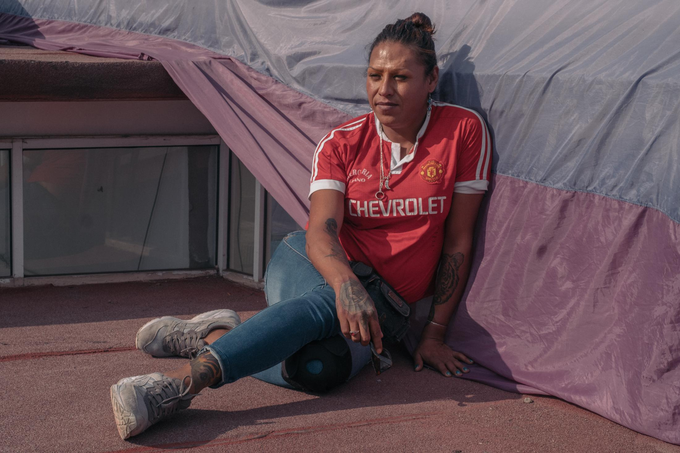 Kenya Cuevas, trans activist and founder of La Casa de las Munecas Tiresias, a shelter for trans people in Mexico City. Shot on assignment for KOMITID . Mexico City, June 2020.