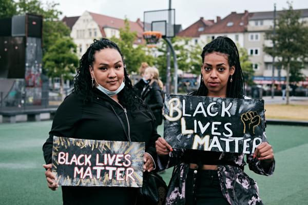 Protests in solidarity with BLM and against racism in Germany