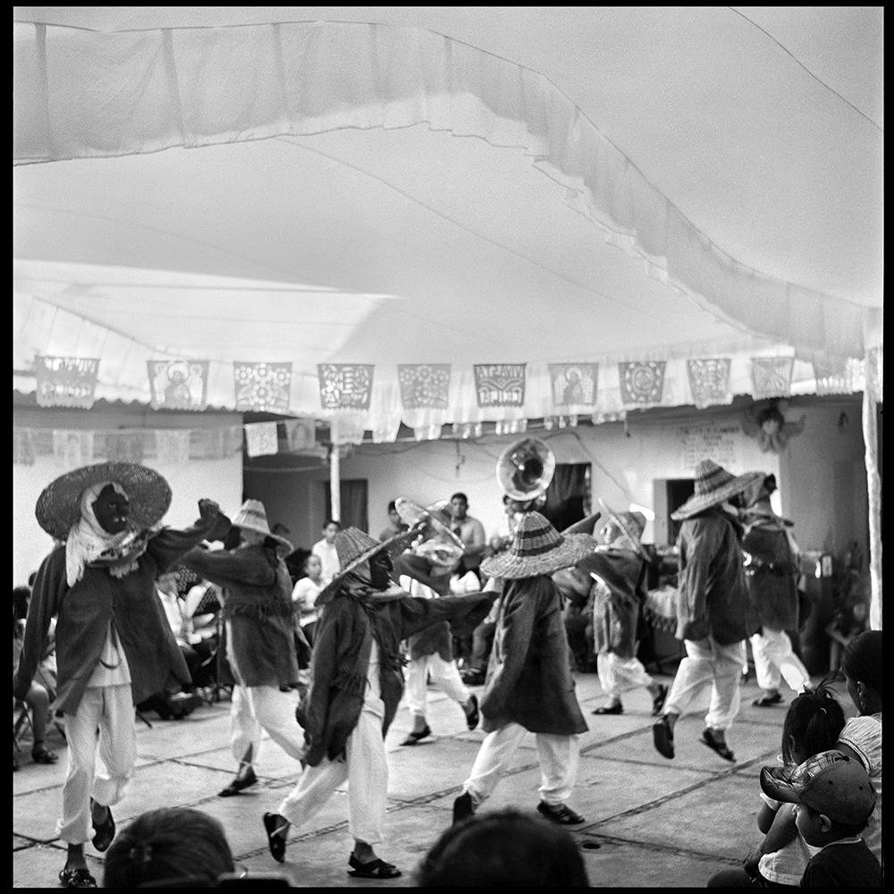 "The only moment to don't keep our feet from the ground is when we dance. Children members of the traditional dance group ""Lla lnhi"" performing Cuerudos. Oaxaca City, Mexico. November 2018."