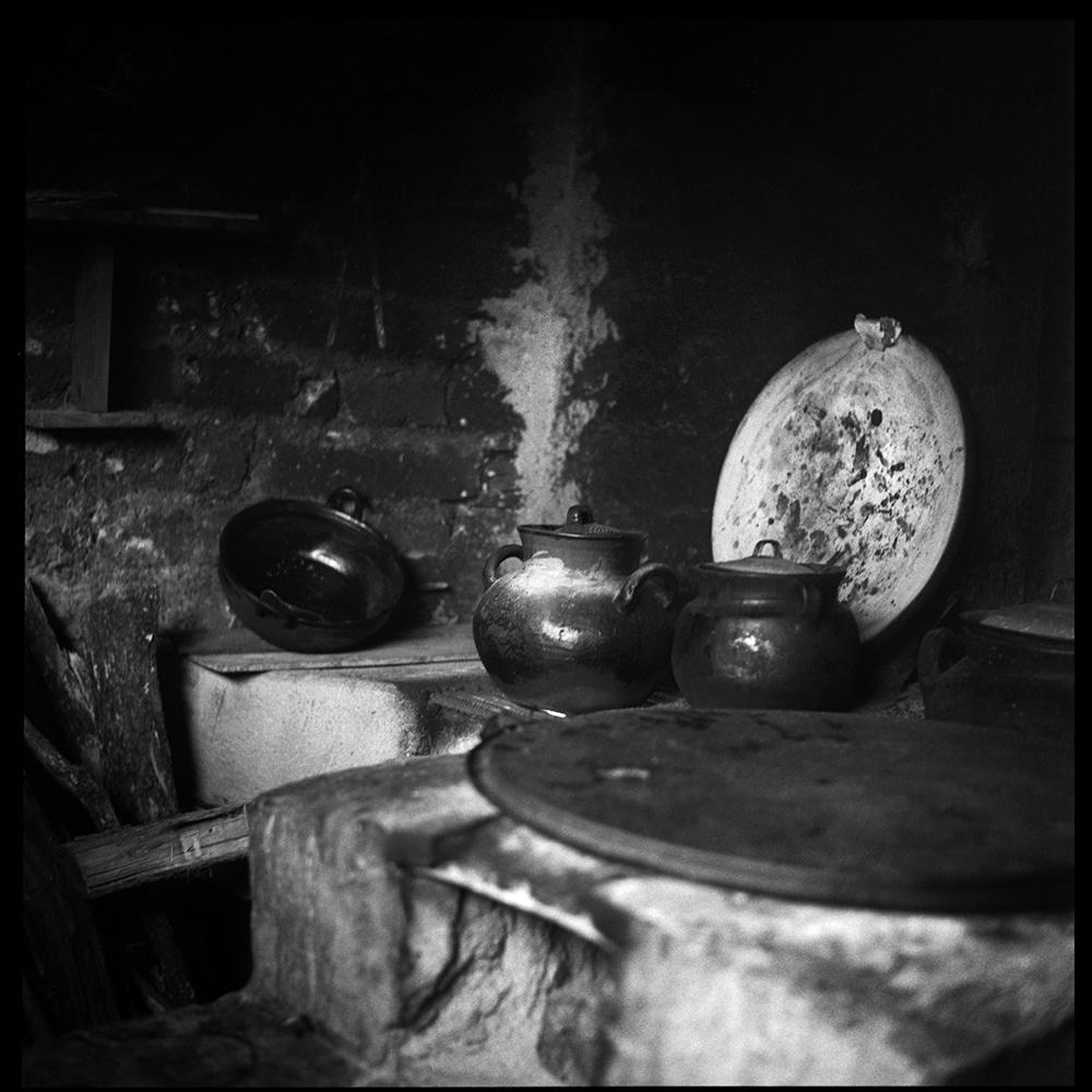 Aunt Eustolia's traditional kitchen.