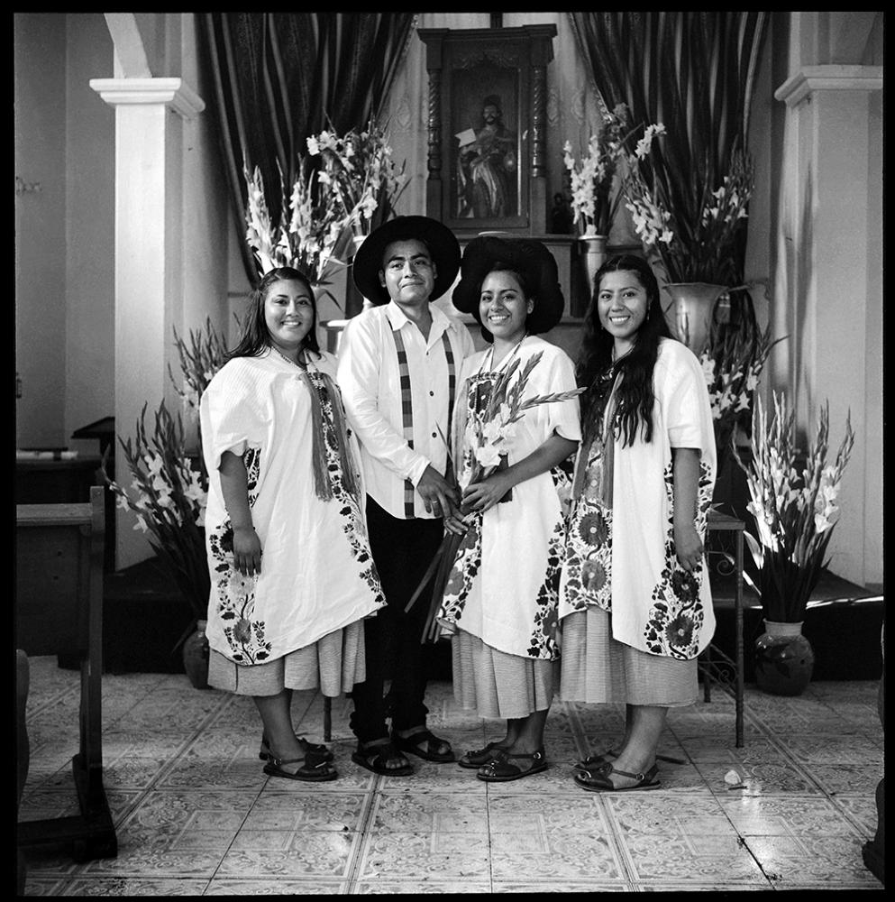 Delia, Saul, Mela and Ana. On Saul and Mela's wedding. Delia and Ana travel from LA to attend to the celebration. Yalalag. July, 2018.