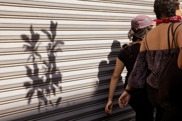 Women during a march against police brutality in Mexico City. Jun 2020.
