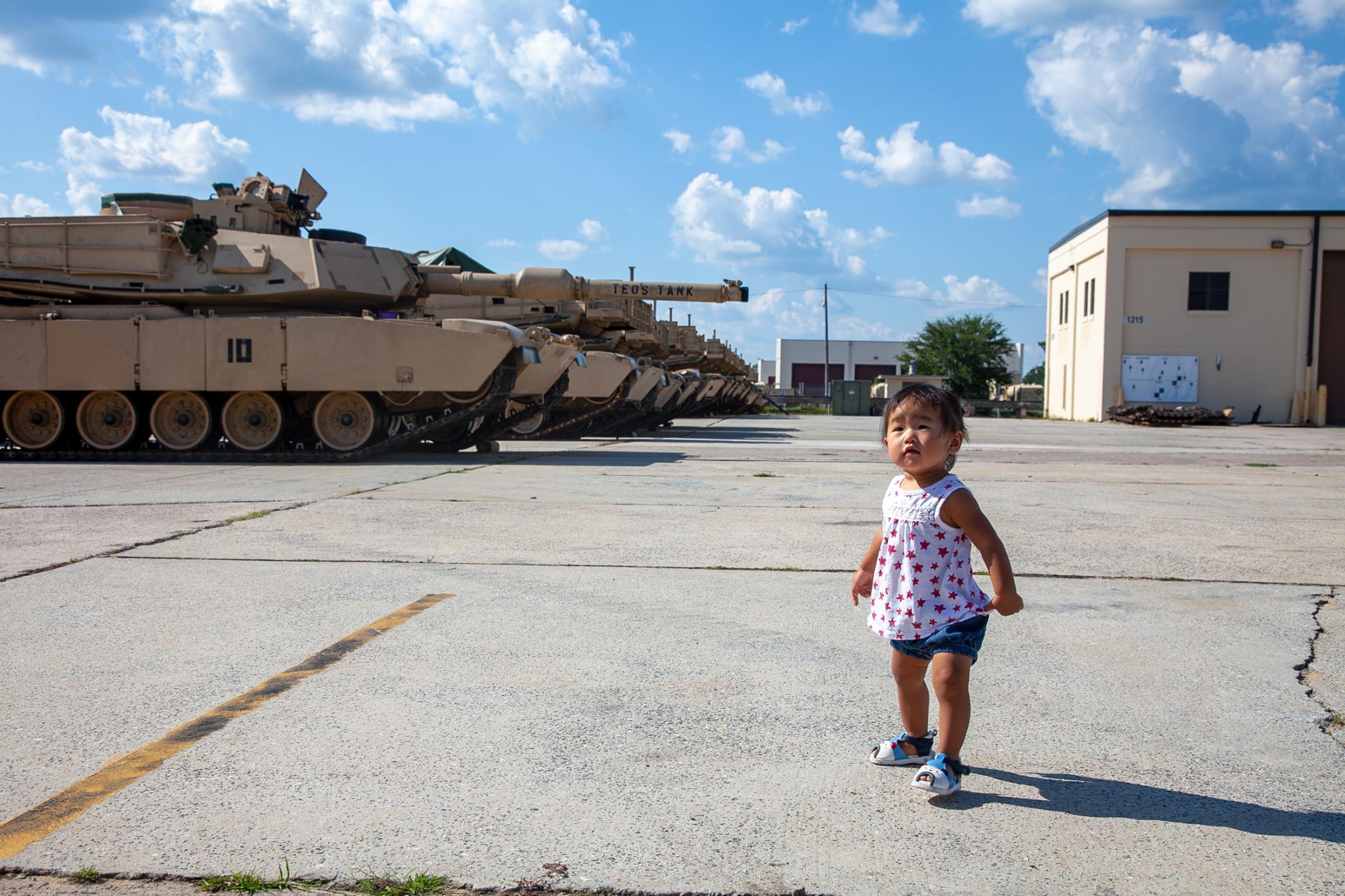 Mila in the motor pool, Fort Stewart, GA