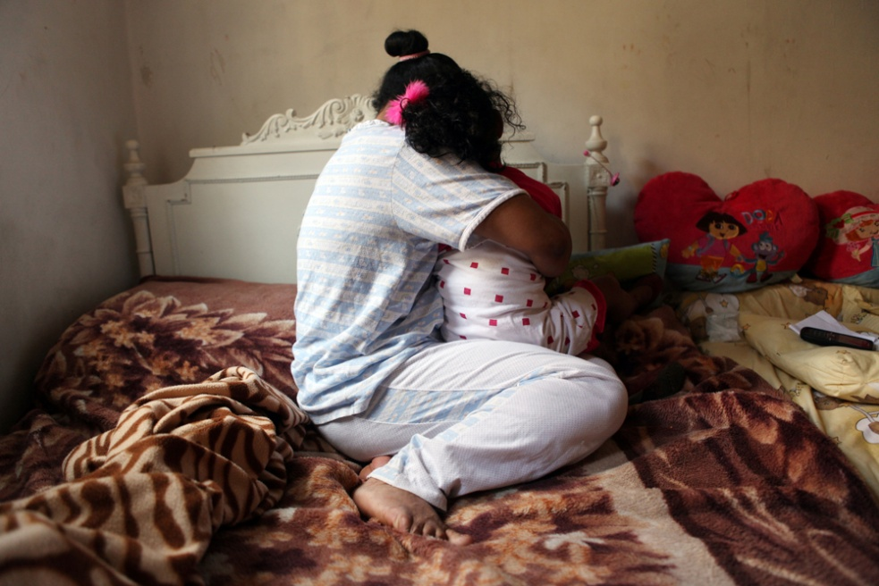 """""""Maria"""", 40, came to Lebanon in 1996, she dreamt of being a doctor, and was told she would be working with old people, and orphans, she was never told about housework and was given the contract to sign in the airport. She had three consecutive bad homes, a range of abuses were taken place between the recruitment agencies and the employers, including no fixed working hours, being forced to work 21 hour days, seven days a week, she was starved, beaten, and had her letters from home hidden away from her. When she eventually left the third home, she met her Madagascan husband and married him in Madagascar, and returned to Lebanon as he had work there. She now has a four year old daughter and is working with a new family (does not live with them), and is happier, but misses her home country."""
