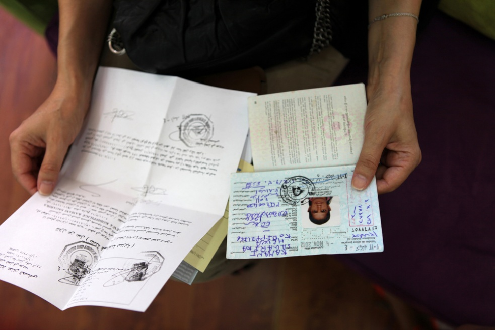 Before hiring a maid, employers have to check the maids' government paper work and passport. Kumani (from the passport) from Sri Lanka, has run away from her employer who beat her, starved her, and was forced to work seven days a week. She found a new employer soon afterwards.