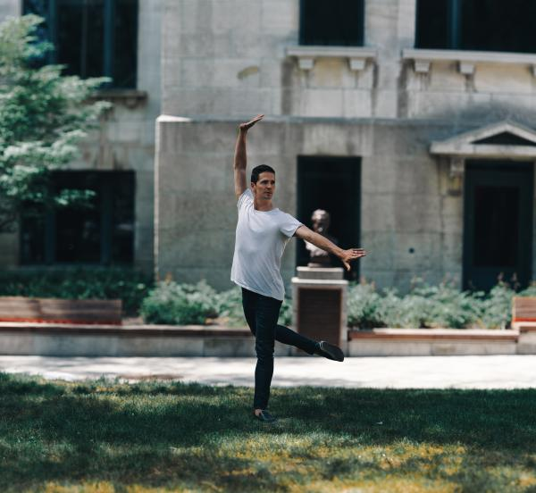 The dancer and choreographer, Guillaume Cote