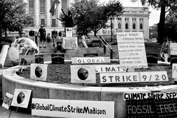 Global Climate Strike - 9/20/19 (b&w)