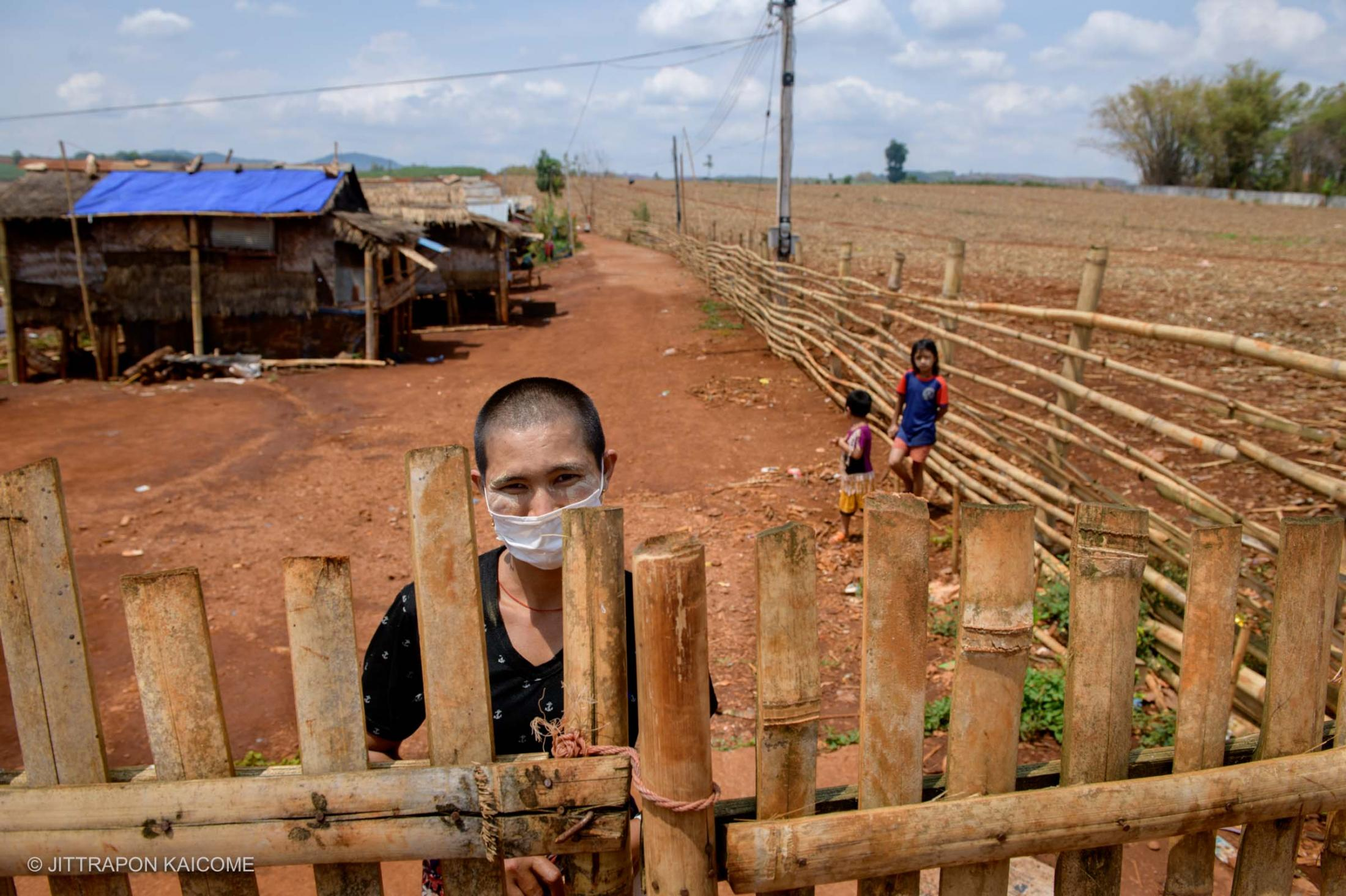 A village along the Thai-Myanmar border lockdown causing Burmese migrant workers unable to farm and have no jobs left them no income due to the Coronavirus outbreak - Phop Phra, Tak, Thailand, in May 2020.