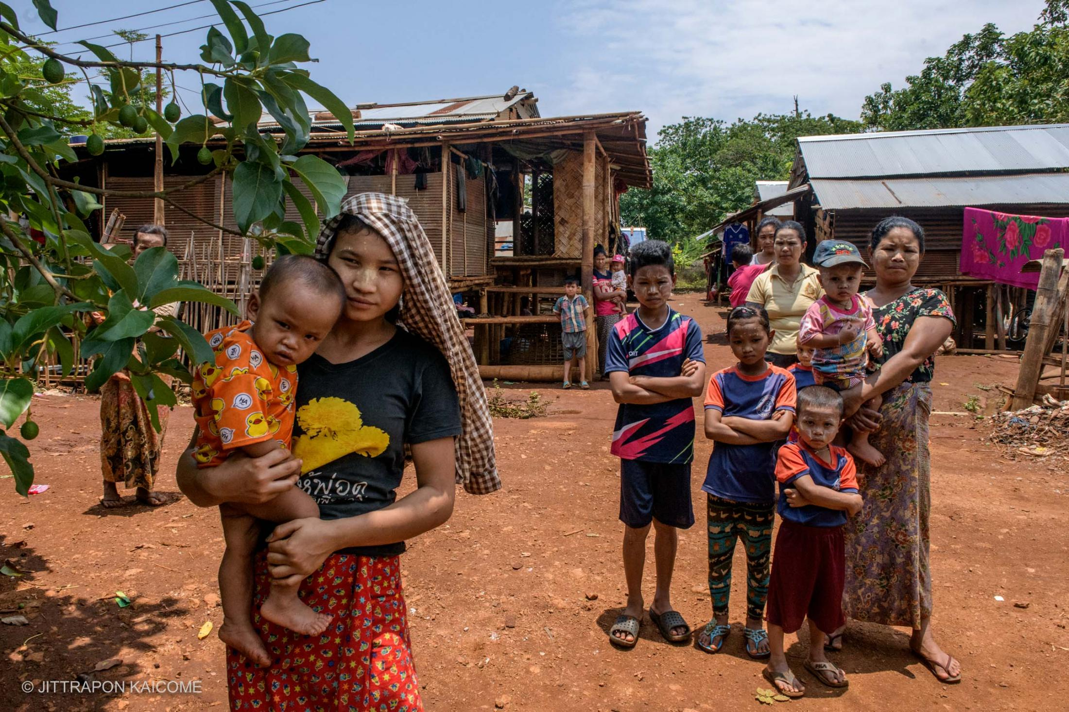 Myanmar migrants at the Village 44, on the Thai-Myanmar border, lost their jobs and cannot farm resulted from the lockdown against Coivd-19. People are waiting in line to receive food handouts in Phop Phra, Tak, Thailand in May 2020.