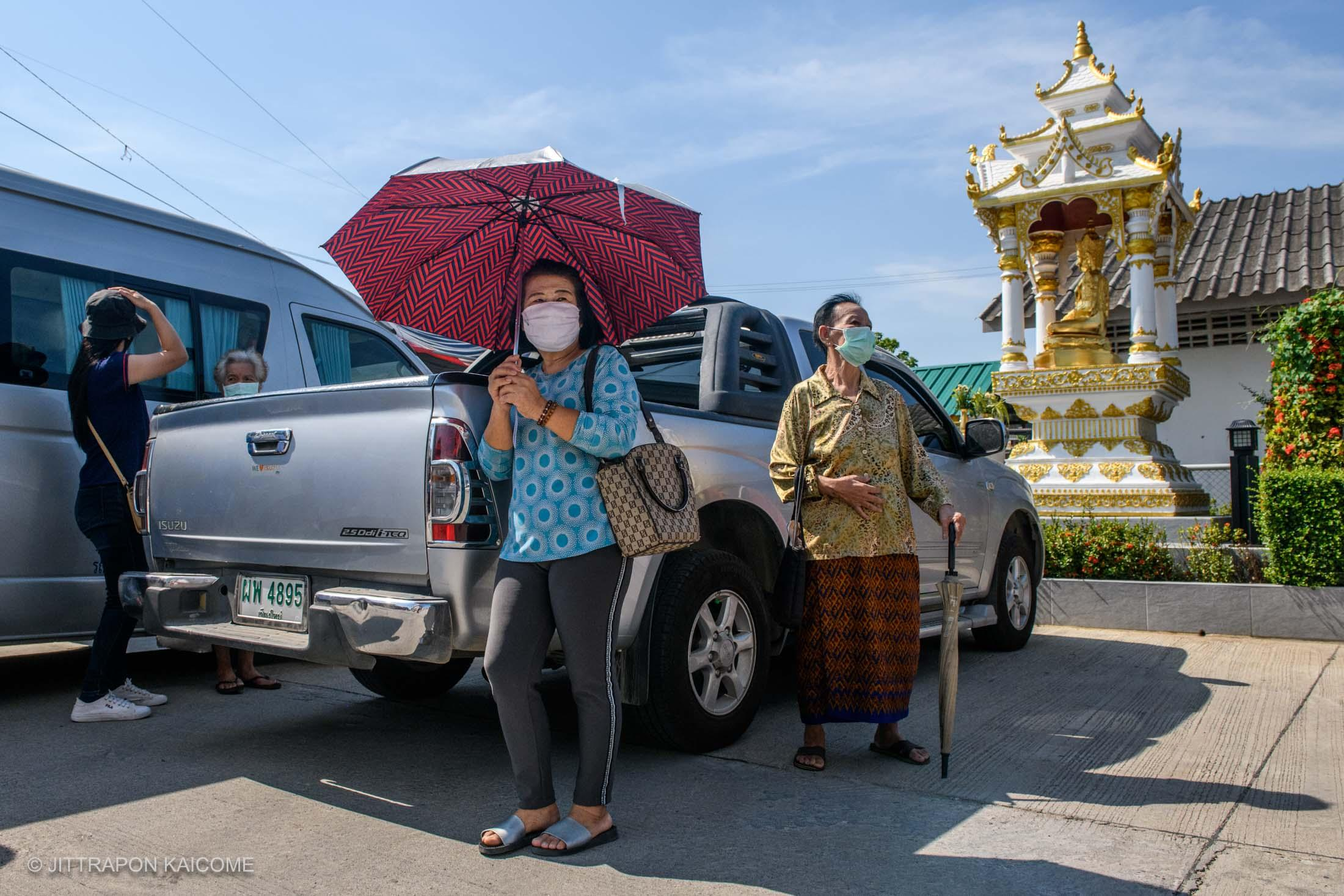 09.26 AM - Civilians are waiting for food handouts. Chiang Mai, Thailand in May 15, 2020.