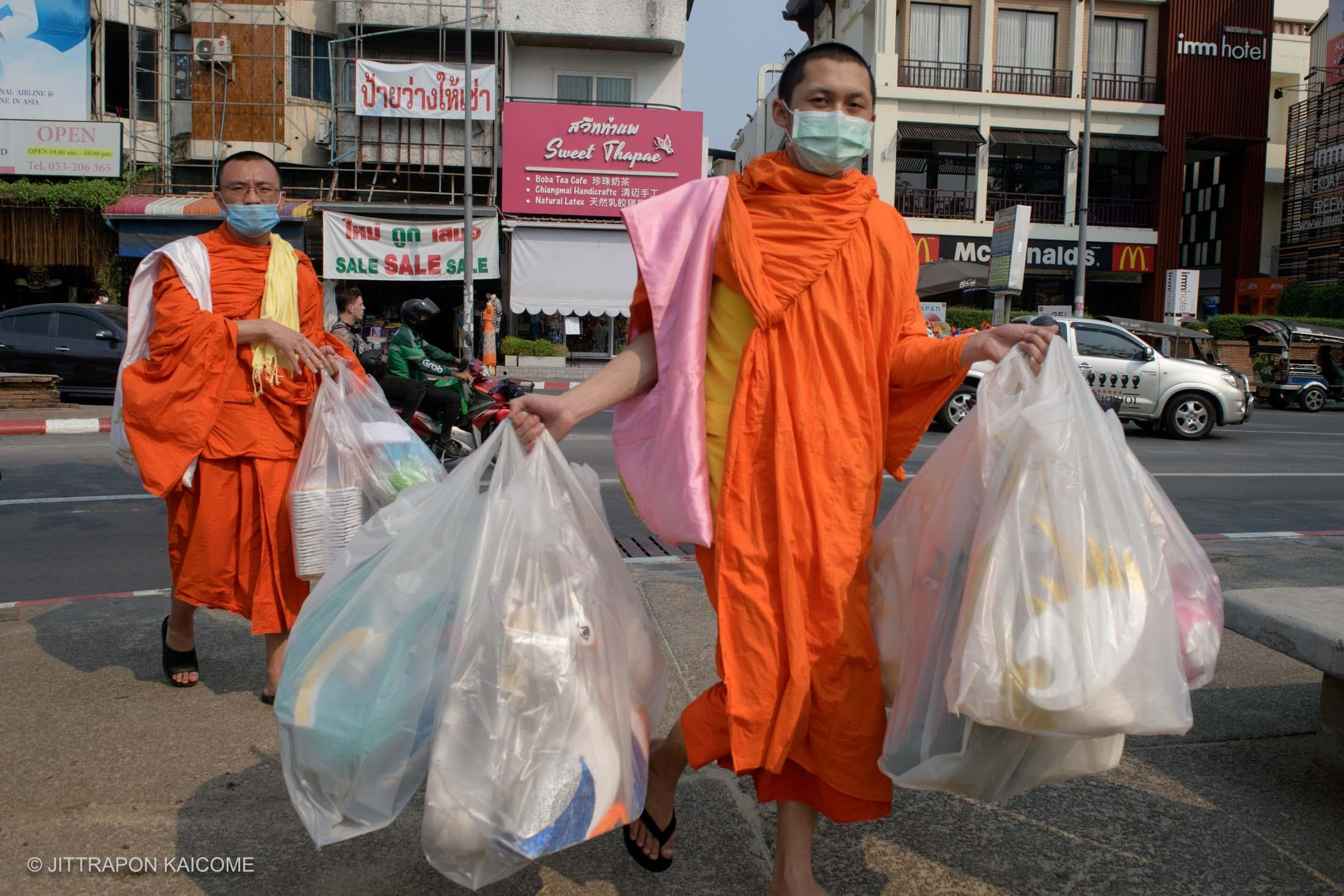 03.18 PM - Civilians are protecting themselves from the Coronavirus spreads, Chiang Mai, Thailand, on February 28, 2020.