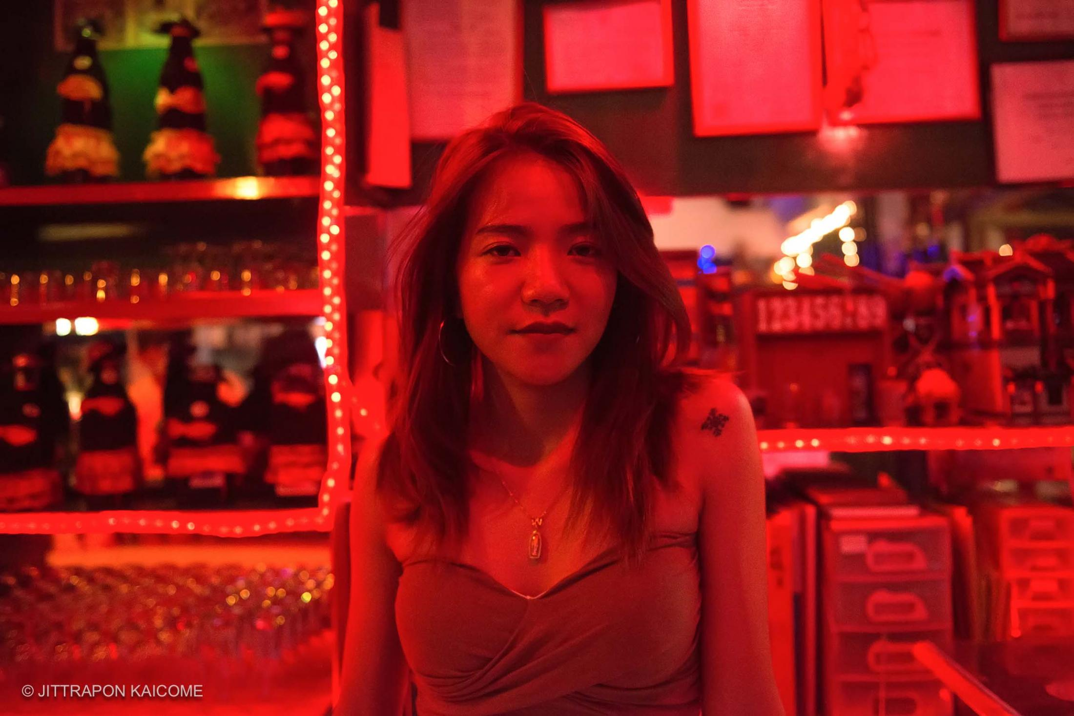 Mori, a sex worker who works at the Karaoke bar taking care of VIP customers. Working as at Can Do Bar as staff for Empower on Job training such as bartender, sewing and massaging.