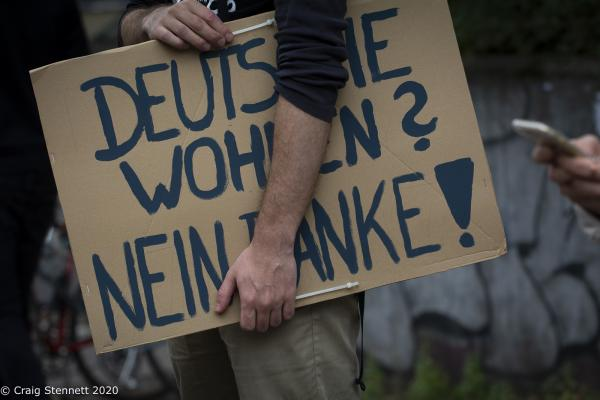 """Berlin-wide demo """"Shut Down Rental Madness - Safe home for Everyone"""" starting in Keuzberg and rallying at Potsdamer Platz, Berlin, Germany."""