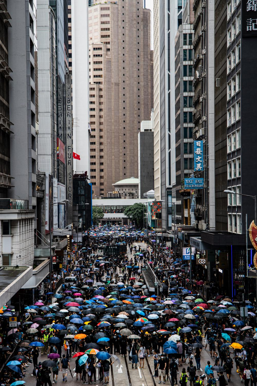 Following the arrests of Hong Kong activists, including Agnes Chow and Joshua Wong, and a police ban on a protest organised by the Civil Human Rights Front, on August 31th, hundreds of thousands of protesters decided to defy the ban and joined a Christian march in Wan Chai, and others occupied major roads in Causeway Bay.